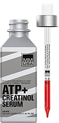 MMUSA ATP Creatine Serum - Liquid Glucosamine Creatine Drops | Pre-Workout Energy with Amino Acids |High Absorption for Increased WorkoutStamina | Premium Bodybuilding Supplement for Men & Women by MMUSA