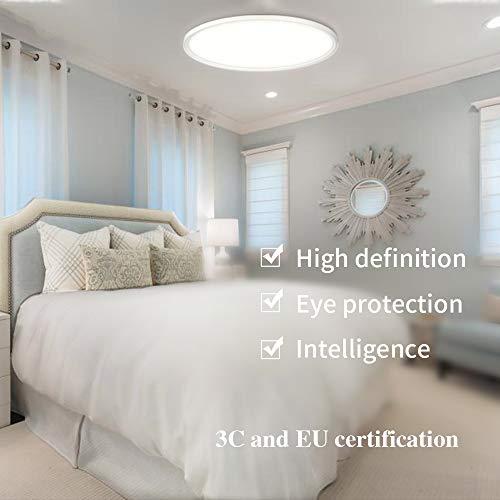 PANNELLO LED Deckenleuchte, Deckenlampe, Kaltweiß Warmweiß Rund Modern Led Deckenleuchten Schlafzimmer Küche Wohnzimmer Lampe für Balkon Flur Küche Wohnzimmer (6500K)