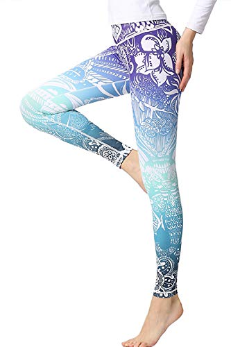 Leggings Mujer Fitness Deportivos Estampados Pantalones