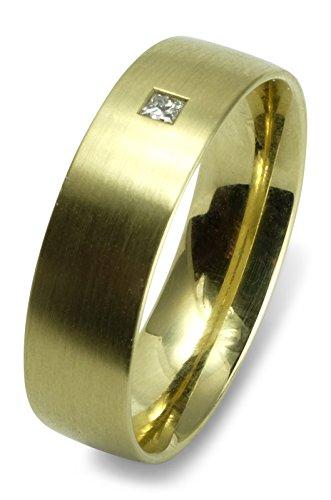 Christian Bauer Trauring Ehering Verlobungsring 585 Gelbgold 14 ct matt Diamant 0,020 ct Carrée Größe 55 R06-A0041