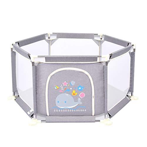 Laufgitter Grey Nursery Furniture Laufstall und Ball Pit Set für Babys | Kleinkind-Spielstift-Sicherheitsbarriere | 73cm Safe Height | 132 cm Durchmesser