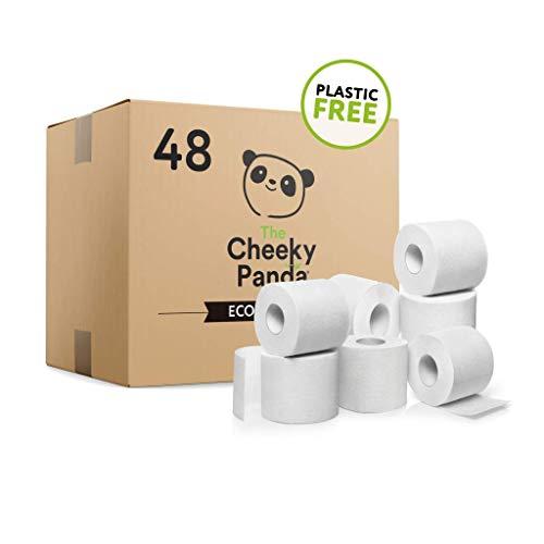 The Cheeky Panda Toilettenpapier, ohne Kunststoff, 48 Stück