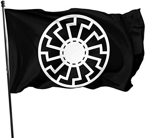 Akatlurus Foot Sonnenrad Sunwheel Flag,Black,One Size