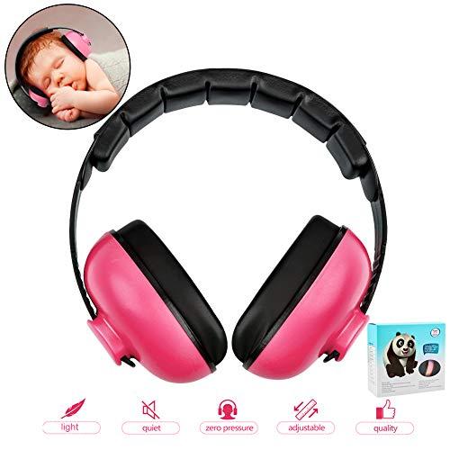 Baby-Ohrenschützer mit Geräuschunterdrückung für Kinder, mit verstellbarem Kopfband, Gehörschutz für 0-3 Baby/Jahre, Kleinkinder, mehrfarbig
