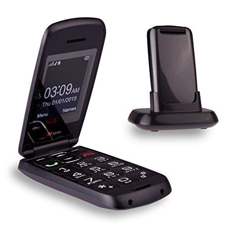 TTfone Star - Telefono Cellulare con Tasti Grandi, Facile da Usare, Chiusura a Conchiglia, Compatibile con Qualsiasi Sim (Grigio)