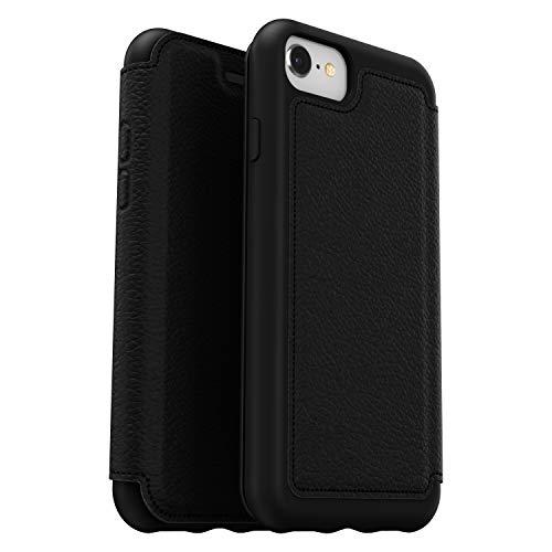OtterBox Strada Etui - Elegante, sturzsichere Folio Schutzhülle aus echtem Leder für iPhone 7/8/SE 2020, Schwarz V2