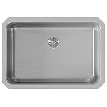Elkay ELUH2416PD Lustertone Classic Single Bowl Undermount Stainless Steel Sink with Perfect Drain