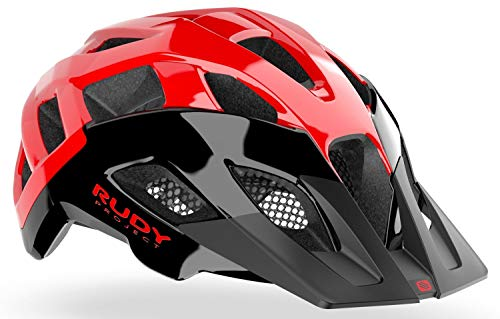 RUDY PROJECT Casco MTB Ciclismo Crossway (S-M, Black-Red Shiny)