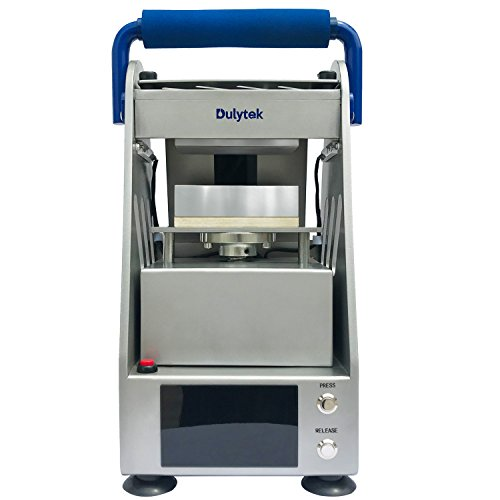Dulytek DW6000-E Freisprecheinrichtung für elektrische Kolophoniumhitzepresse, 3-Tonnen-Druck und 2-Wärme-Druckplatten (127 x 64 mm), Touchscreen, Plug-and-Play