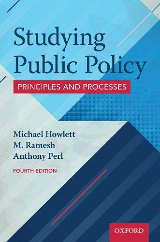 Studying Public Policy: Principles and Processes