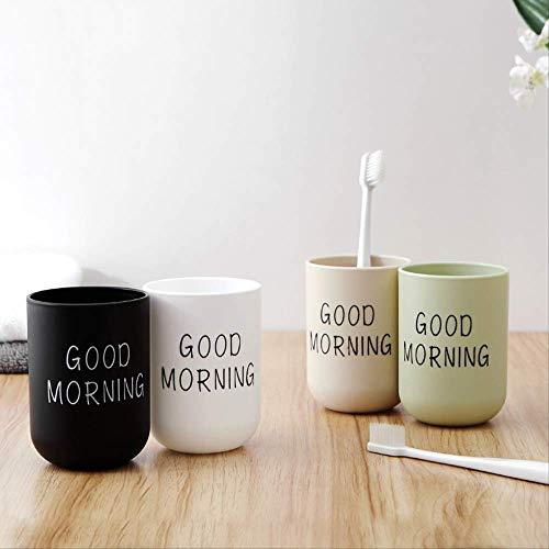 WYDIY Frisch Und Einfach Plus Dicke Runde Mundspültasse Kreative Paar Zahnbürste Tasse Kunststoff Trinkbecher Waschen Tasse Englisch Aqua