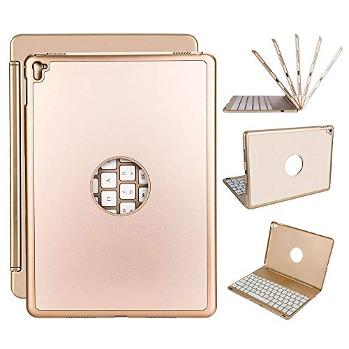 Funda con Teclado para iPad Pro 9.7 Teclado, Funda Ultrafina para iPad con Teclado Bluetooth retroiluminado LED de 7 Colores para Apple iPad Pro 9.7 Pulgadas