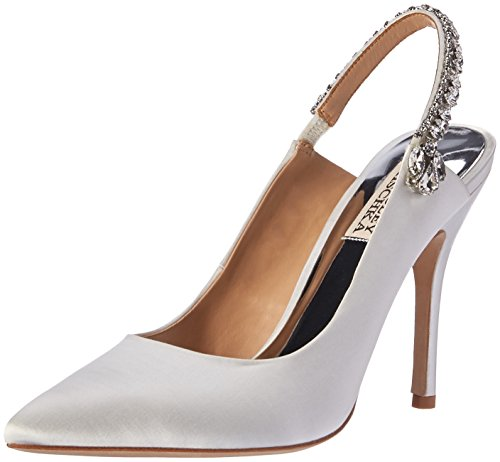 Badgley Mischka Women's Paxton Pump, White Satin, 11 M US
