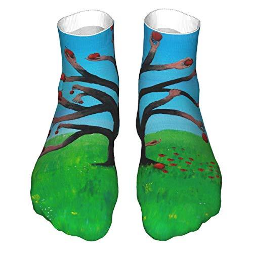 Apple Tree Classics Compression Socks Athletic Long Thicken Crew Socks For Men Women 11.8 Inch(30cm)