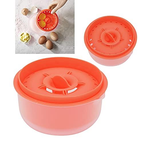 01 Filtro de Clara de Huevo, hogar Conveniente plástico del Separador de Huevo para la Torta(Dark Orange)