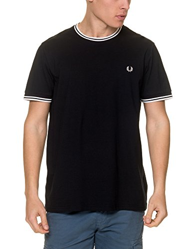 Fred Perry Fp Twin Tipped Camiseta, BLU (Navy), S para Hombre