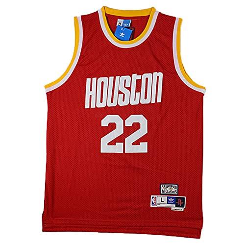 KKSY Camisetas de Hombre Clyde Drexler # 22 Houston Rockets Camisetas de...