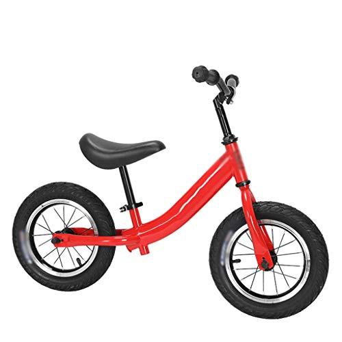 SJY Bicicleta Deportiva para niños, Andador, Bicicleta sin Pedales, llanta Inflable para Bicicleta Ligera para niños, Adecuada para niños de 2 a 6 años (Rojo),Rojo