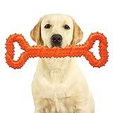 Unzerstörbares Hundespielzeug für Aggressive Kauer, Robustes Kauspielzeug, sichere und langlebige Hundeknochen für große Hunde, Welpenspielzeug zum Zahnen, interaktives Hundespielzeug (Orange)