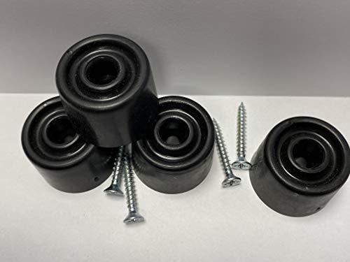 Lot de 10 butées de porte en caoutchouc à visser 35 mm de diamètre avec vis, protection murale, pare-chocs, butée