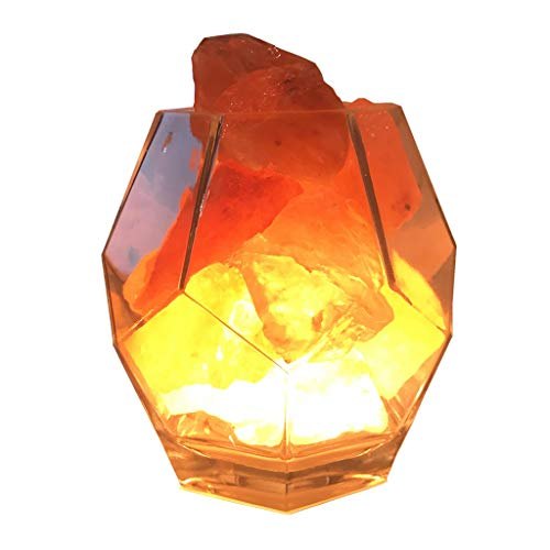 Luminaires & Eclairage/Luminaires intérieur/EC Lampe en Cristal de sel Lampe en Cristal Naturel Lampe de minerai de l'Himalayan veilleuse de LED Lampe de Chambre créative Pierre de Cristal sculpté
