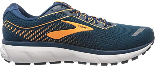 Brooks Ghost 12, Scarpa da Corsa Uomo, Poseidon Grey Orange, 43 EU