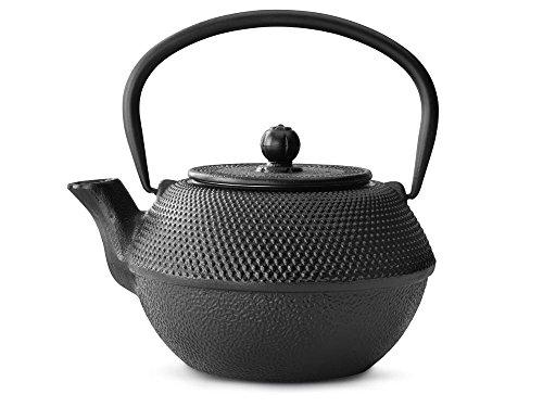 asiatische Teekanne Gusseisen Jang 1,1 ltr. schwarz Noppenstruktur