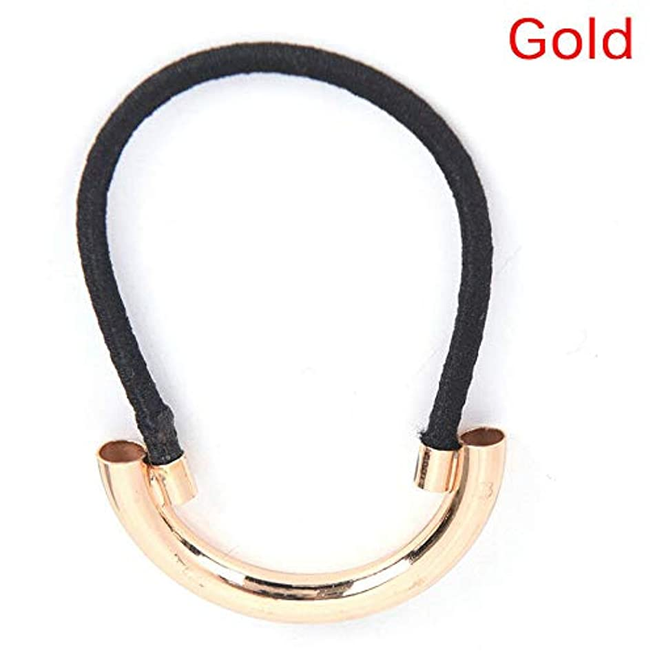 Hair Band Tie Elastic Rope Ring Hair Holders Hairband Ponytail (COLOR - Gold)
