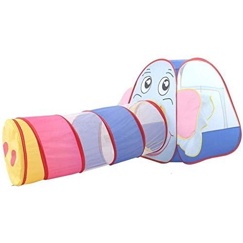Iyom Tienda de campaña para niños, 2 en 1 Pop Up Ball Pit Carpa Plegable para niños pequeños, túnel de rastreo, casa de Juegos, cumpleaños para niños, Juego de Interior y Exterior