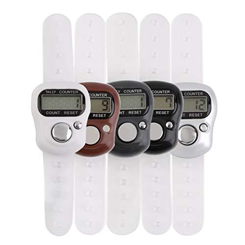 YUIO Mini Tragbarer 5-stelliger LCD-elektronischer digitaler Golfsport-Universal-Finger-Handringzähler (schwarz)