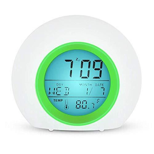 YUES Reloj Despertador Digital para niños con Calendario y