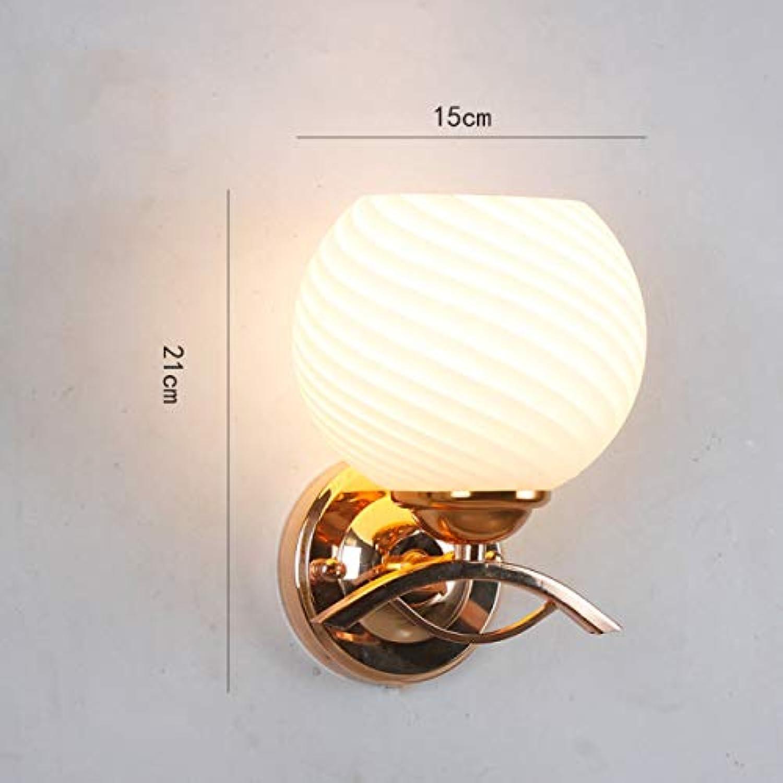 2-GTRHGTYH Mode Einfache Wandleuchte Moderne Kreative Wohnzimmer Gang Bett Led Gold Wandleuchte (Farbe   B)