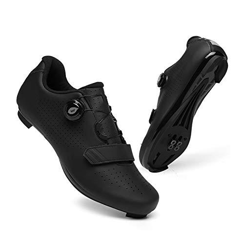 XIANWFBJ Ciclismo Zapatos,Calzado Deportivo MTB, Calzado Deportivo De Ciclismo Al Aire Libre, Sapatilha Ciclismo, Calzado con Bloqueo De Bicicleta De Carretera con Tacos Autoblocantes SPD,MTB,EU45