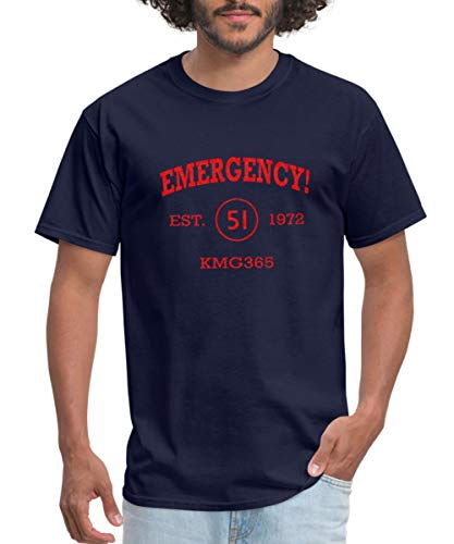 Emergency Athletic Vintage Firefighting Men's T-Shirt, XL, Navy