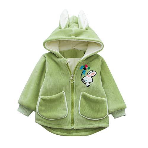 Bestyyo Baby Mantel, Kinder Winter Warm Cartoon Hase mit Sternen Mädchen...