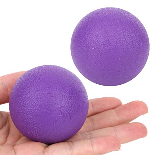 DAUERHAFT Pratical Great Elasticity 2Pcs Purple Yoga Massage Ball Rendimiento Estable, Alivia la Fatiga Muscular, repara el daño Muscular