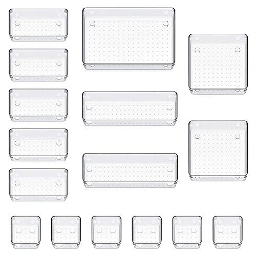 FOGARI 16 Cajas Organizador de Cajón Plástico,Organizadores Transparentes...