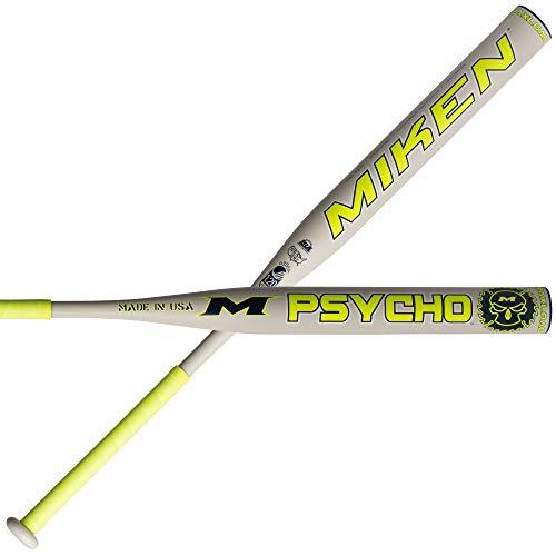 "Miken 2019 Psycho USSSA 1-Piece Maxload Slowpitch Softball Bat, 14"" barrel, 26 oz"