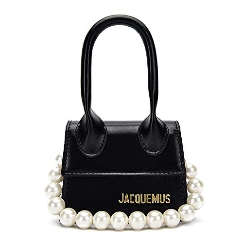 ZHENBK Jacquemus Mini Purses Fashion small Mini Crossbody Bags for Women Handbags Women Shoulder Bag 20 colors (Stone grain pearls)