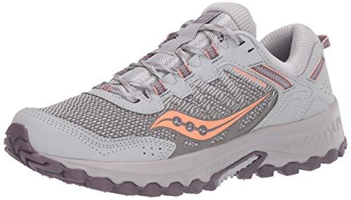 Saucony Women's Versafoam Excursion TR13 Trail Running Shoe, Grey/Purple/Coral, 8