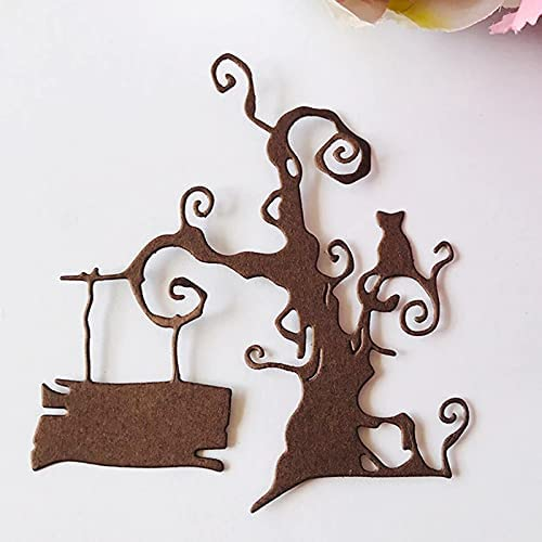 HTLC Happy Halloween Tree Genuine Free High quality new Shipping Metal Cutting for Making Card Scr Dies