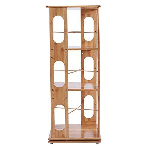 Xinwoer Libreria Girevole, 3 Strati di scaffalature per libreria Semplice con Rotazione a 360 Gradi La Piattaforma Girevole Casa