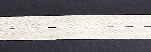 3 m Lochgummi 20 mm weiß