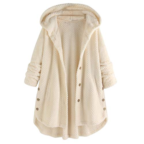 Why Choose Bottoming Fluffy Tail Tops,2020 Fashion Button Coat for Women Christmas Sweatshirt Hoodie...