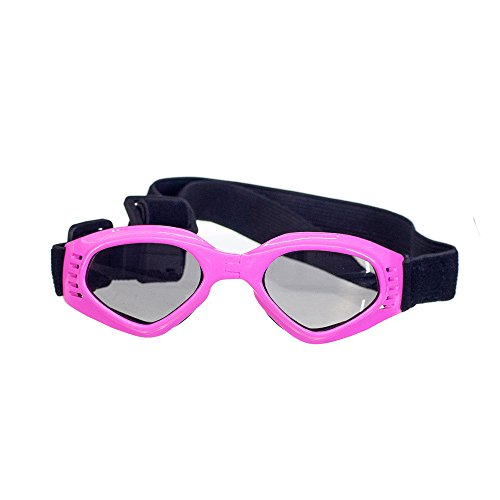 OxyPlay Dog Goggles Windproof Adorable Doggie Puppy Sunglasses for Small Dogs of Surfing, Motorcycle, Photograph … (Pink)