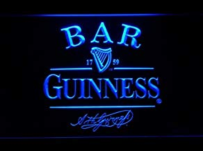 Guinness Neon LED Caracteres Publicidad Neon Cartel Azul