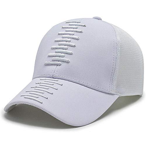 Kuletieas Gorras De Hombre Sombrero Deportivo de Secado rápido Ligero Transpirable Suave para Correr al Aire Libre para Hombre para Tenis Golf béisbol Pesca Senderismo Blanco