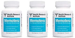 Memotenz Brain Function Supplement - 3pck - Brain Booster for Memory, Clarity and Focus - Mental Focus Nootropic