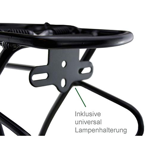 SCHOBERG Fahrrad Gepäckträger HINTEN Alu verstellbar für 24, 26, 28 Herren und Damen Fahrrad Universalbefestigungsset, schwarz max. Zuladung 25kg - 5