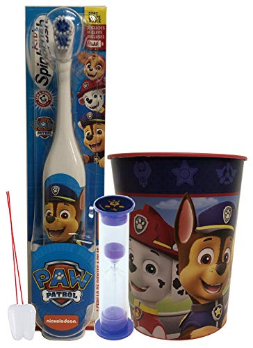 Complete Oral Hygiene Bundles with All of Your Child's Favorite Paw Patrol Characters. (3 Piece, Chase)